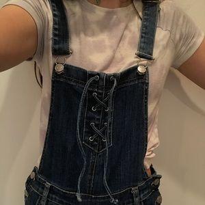 Pacsun denim overalls